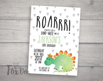 Dinosaur Invitation | Boy Birthday Invitation |  Dinosaur Birthday | Printable Invitation | Digital Invitation | Roar Invitation