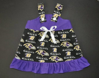 NFL Baltimore Ravens Baby Infant Toddler Girls Dress  You Pick Size