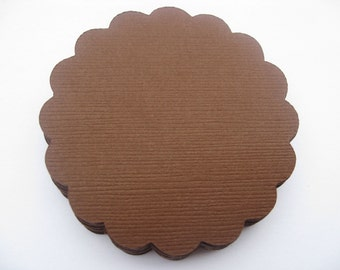 40 Scalloped Circles. 2.5 inch. CHOOSE YOUR COLORS. Tag, Wedding, Gift, Scrapbooking, Favor, Cupcake, Top Notes.