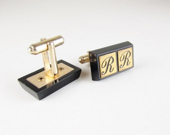 Vintage Hickok Cuff Links with Initials RR