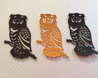 3 Owls, Handmade, 3 Browns, Cards, Scrapbook Page, Sizzix