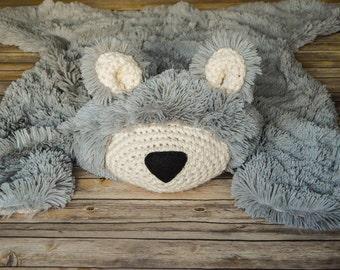 Nursery Rug, regular size Bear Rug, Woodland Nursery Rug
