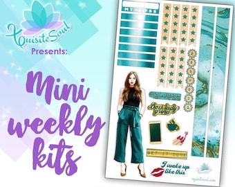 Boss Babe Light Skin Mini Weekly Planner Sticker Kit for Erin Condren/ Travelers Notebook Sticker Kit / Planner Stickers