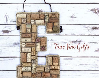 Wine Cork E//Wine Cork Letter