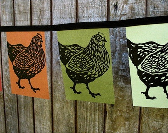 PAPER FLAGS Happy Chicken