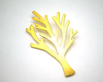 1pc- Matte Gold Plated Wish Tree  Charm -52x30mm-(022-030GP)