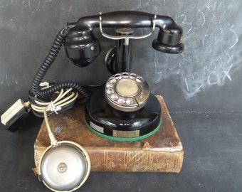 1924 Antique French BCI Paris Telephone. Vintage Rotary Dial Phone in working order