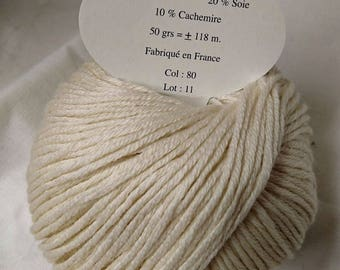 Pincushion cashmere, wool and silk /brillante/ made in FRANCE