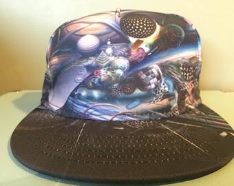 Galaxy Space Snapback Hat