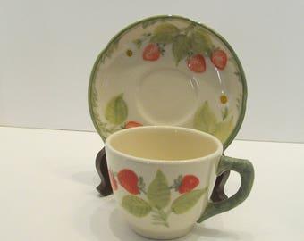 Fransican Strawberry Fair Cup & Saucer set