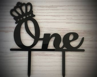 Black Acrylic Cake Topper