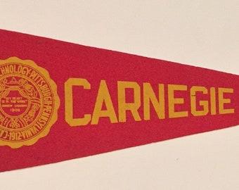 Circa 1940's Carnegie Tech felt pennant - Antique College Memorabilia