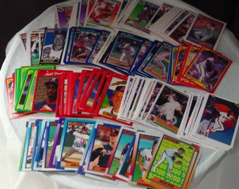 California Angels set of 201 vintage baseball cards for decoupage, framing, crafts, collecting 1990-92 Los Angeles LA Anaheim FREE SHIPPING!