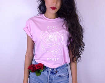 Girl Power Tshirt • Feminist Shirt • Feminism Tee • Women's Movement • Girl Power Shirt « g500lightpink «« (basic, tee) «