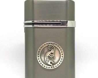 Kokopelli Desktop Lighter – Metallic