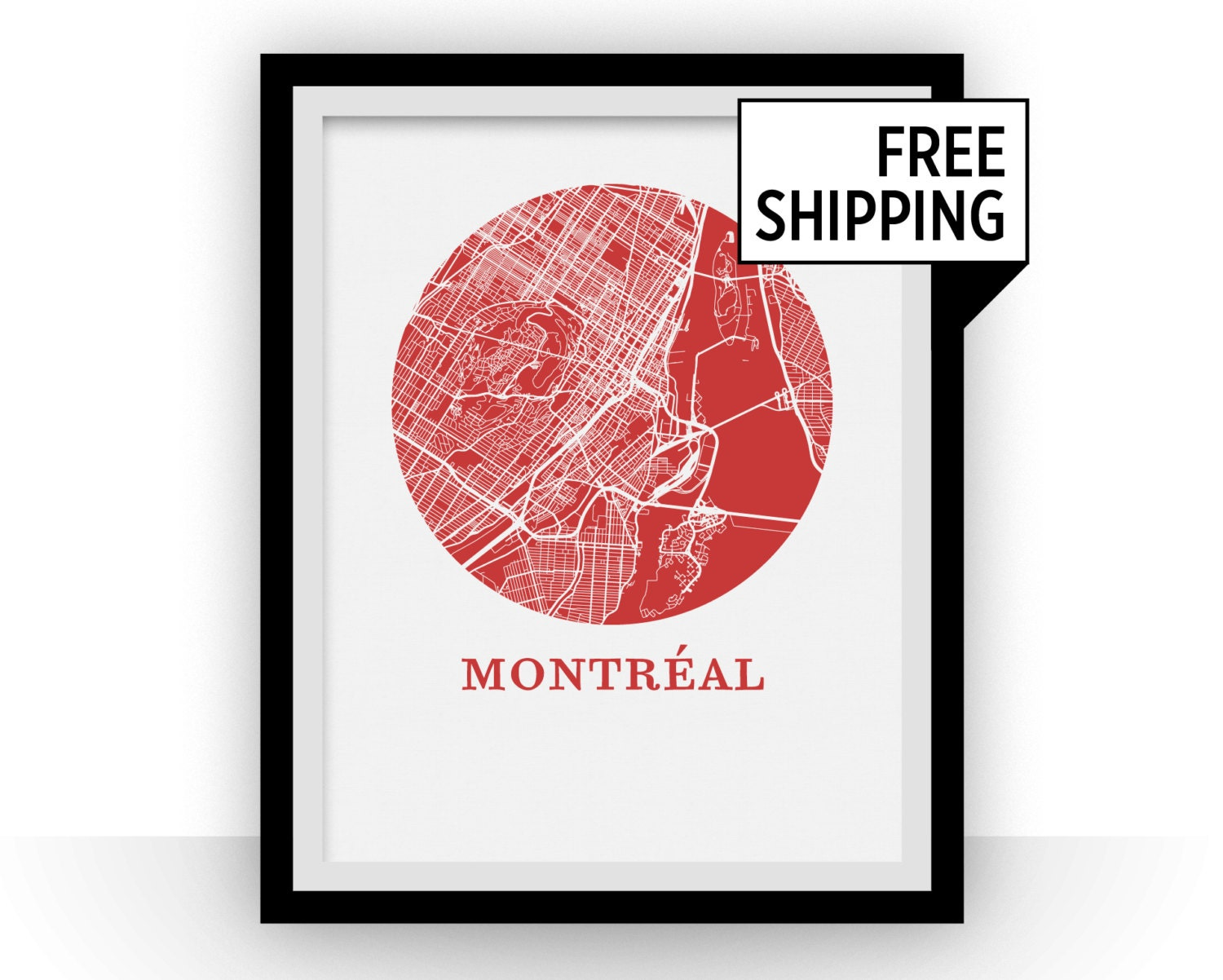 Montreal Map Print City Map Poster
