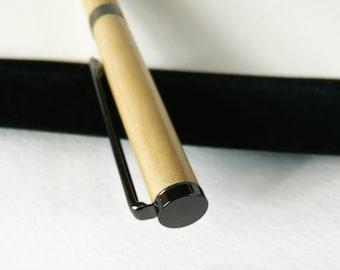 Ball pen - Hand-turned - Cherry wood - Gun metal