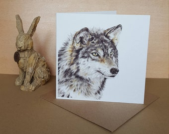Wolf Greeting Card - Special occasion card - Blank greeting card - Wolf Card - Birthday Card