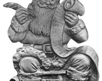 Santa Making a List Ornament