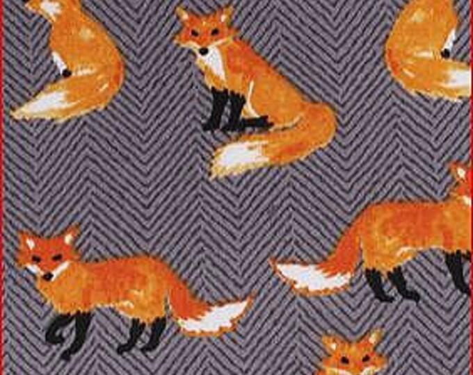 Fox Print Stock Tie
