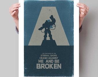 "X-MEN Inspired Apocalypse Minimalist Poster Print - 13""x19"" (33x48 cm)"
