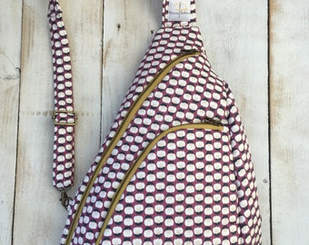 Made to Order - Sling Bag - Plum Fabric