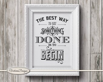 Get Something Done Motivational Quote Print Printable wall art DIY digital print digital art instant download digital sheet - VDWAQU1722