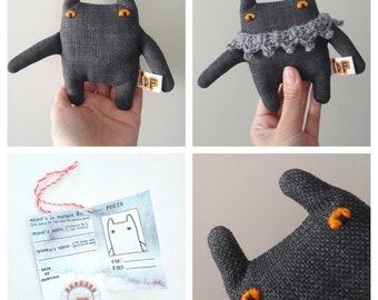 Adopt a Nemo #002, art soft toy (artistic doll, soft sculpture, monster, heirloom teddy bear)