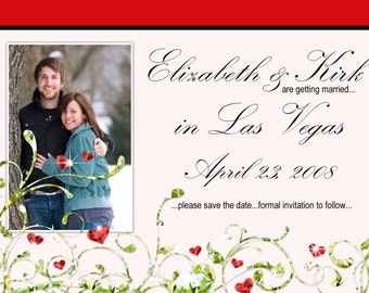 Save the Date Announcement, Save the Date Photo Card, CUSTOM for YOU - 4x6 or 5x7 photo card