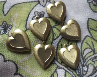 Sweetheart Small Brass Heart Lockets 20x15mm 4 Pcs
