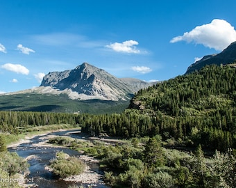 Gorgeous Montana Day, Perefect Invitation, Eastern Montana, Mountains and River, Photograph or Greeting card