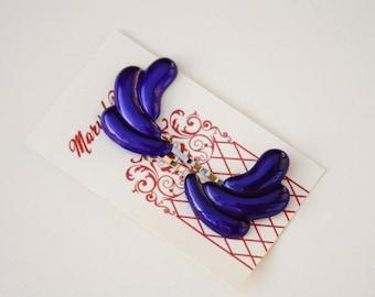 Vintage violet Hair Pins - Fan, Swoop, réaffecté