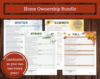 Home Ownership Bundle, Home Maintenance, Seasonal Maintenance, Spring, Summer, Fall, Winter, Realtor Gift