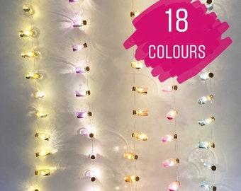 Fairy dust LED mini jar lights. String lights. Fairy lights.