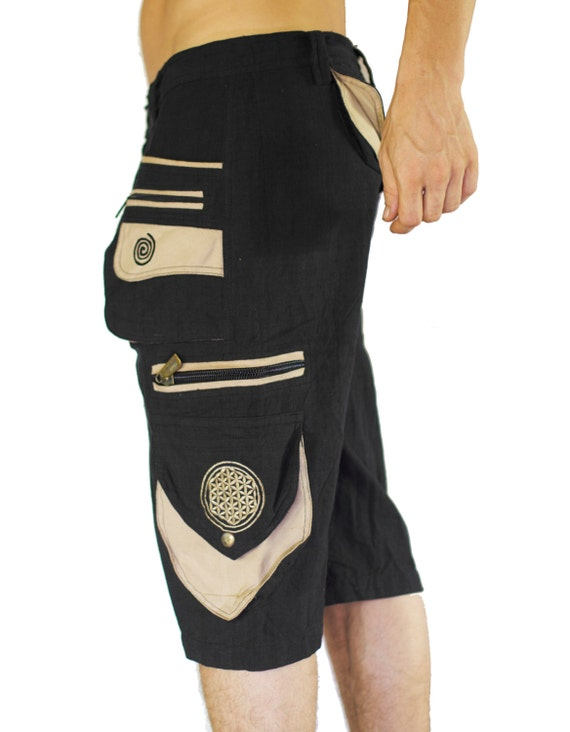 Goa Pant clamdiggers many pockets with flower of life embroidery fully customizable made after order YIWVkyqVj