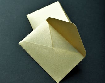 Gold Envelopes With Seals - Metallic Envelopes - Gold Envelopes - Gold Glitter Envelope Seals - Gold Gift Card Envelopes