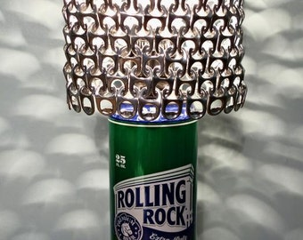 Giant Rolling Rock Beer Can Lamp With Pull Tab Lamp Shade - The Mancave Essential
