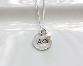 Alpha Phi Necklace - Alpha Phi Jewelry - Sorority Jewelry - Greek Jewelry - Big Little Jewelry - Sorority Necklace