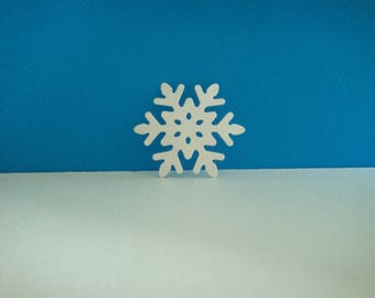 White snowflakes cut foam for creation for Christmas, diameter 4.4 cm
