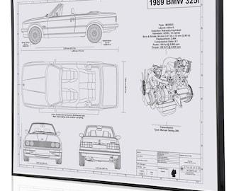 Bmw blueprint | Etsy