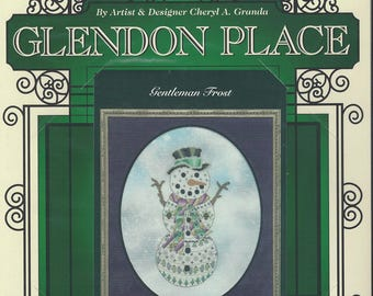 """Clearance- """"Gentleman Frost"""" Counted Cross Stitch by Glendon Place"""