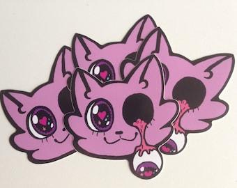 Drippy-Eye Cutie Pie Cat Sticker