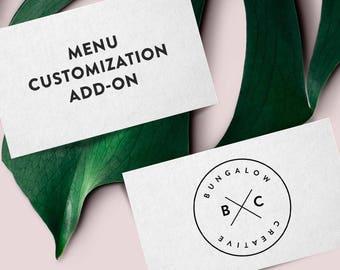 Restaurant Menu Customization Add-On