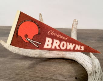 Vintage Cleveland Browns Mini Pennant
