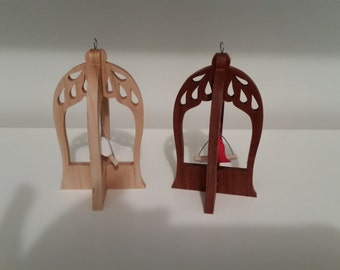 wooden bird cage ornaments