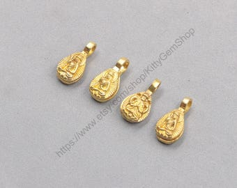 23mm 2Pcs Raw Brass Buddha Pendants Openable Two Face Charms GY-TQZ925