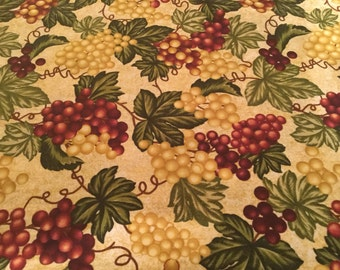 Mixer Cover - Green and Purple Grapes on a cream background