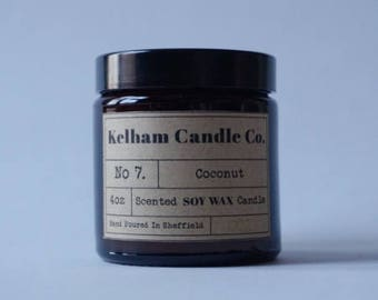 Coconut Amber Soy Wax Jar Candle