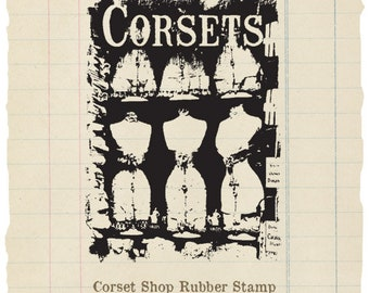Corset Shop unmounted rubber stamp