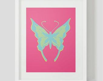 INSTANT DOWNLOAD - Butterfly printable wall art